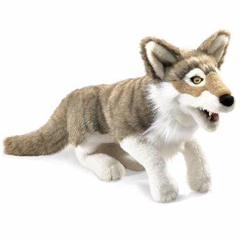 Folkmanis handpoppen en poppenkastpoppen Mooie realistische handpop wolf