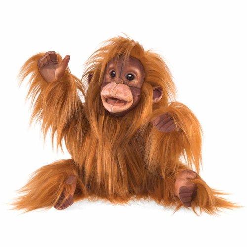 Folkmanis handpoppen en poppenkastpoppen Folkmanis handpop Orang oetan Baby