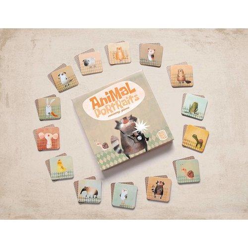 Marbushka fairtrade spellen Memory dieren portretfoto's