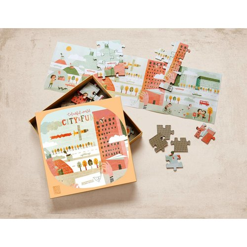 Marbushka fairtrade spellen Colourful world- City & Fun