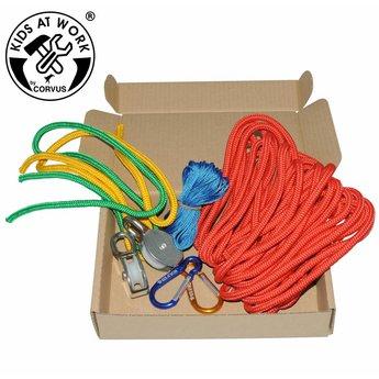Kids at work kindergereedschap Multi kabel kabelbaan - overhevelen met touw
