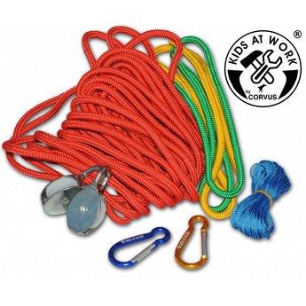Kids at work kindergereedschap Multi kabel - overhevelen met touw