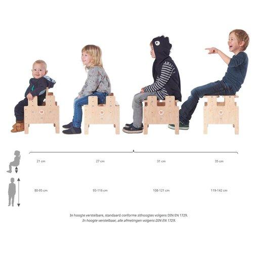 RobHoc flexibele schoolmeubels In hoogte verstelbare kinderkruk