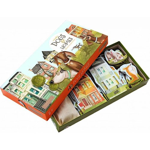 Marbushka fairtrade spellen Marbushka Dogs and Homes - bordspel