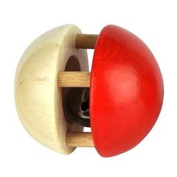 Voggenreiter kindermuziekinstrumenten Rammelaar bal met bel rood-naturel