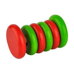 Voggenreiter kindermuziekinstrumenten Houten rammelaar ringen