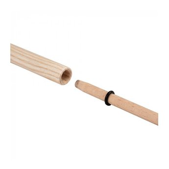 Henrys jongleerspeelgoed Tweedelige houten stok voor jongleerbord