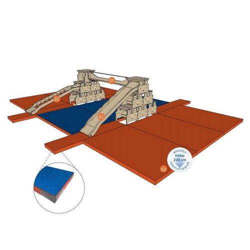 RobHoc flexibele schoolmeubels Gym mattenset valbescherming 13-delig