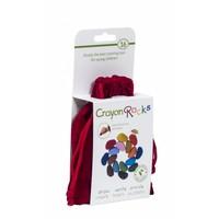 Crayon Rocks - 16 waskrijtjes in rood fluwelen zakje
