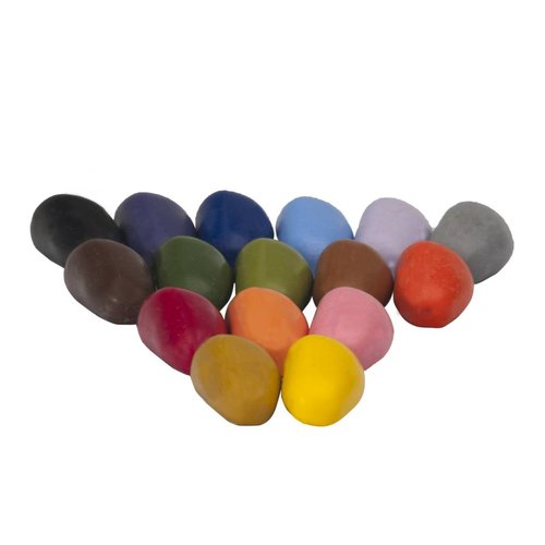 Crayon Rocks sojawaskrijtjes Zestien kleurkrijtjes van soja in een rood fluwelen zakje