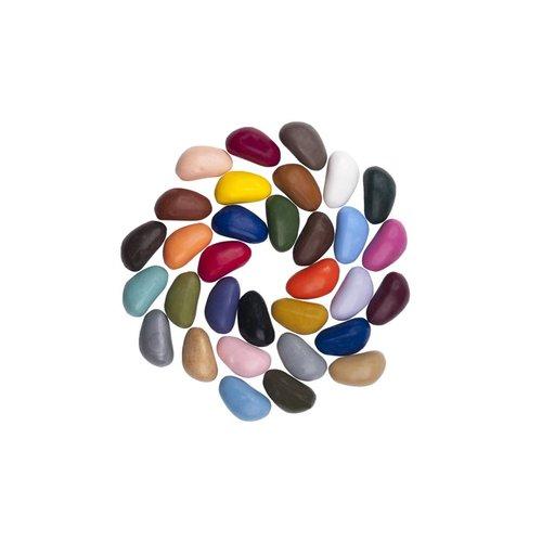 Crayon Rocks sojawaskrijtjes Crayonrocks - 32 sojawaskrijtjes in een ecru katoenen zakje