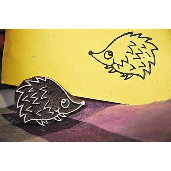 Blockwallah houten stempels Blokstempel Hedgehog