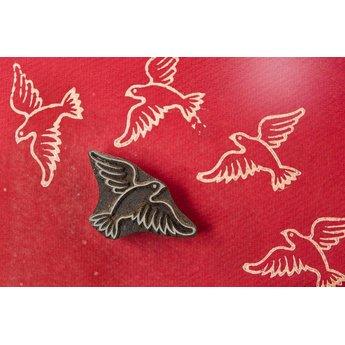 Blockwallah houten stempels Blokstempel Peace Bird - vredesduif