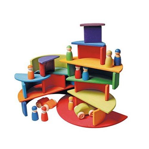 Grimms houten speelgoed Regenboog zonsondergang van Grimms
