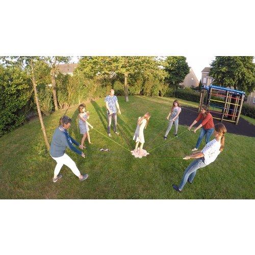 Karl-Schubert-Gemeinschaft - houten spellen Zweefbord samenwerkingsspel en teambuilding