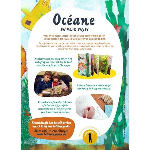 Talismanneke rouwverwerking Oceane en haar visjes personaliseerbaar prentenboekje