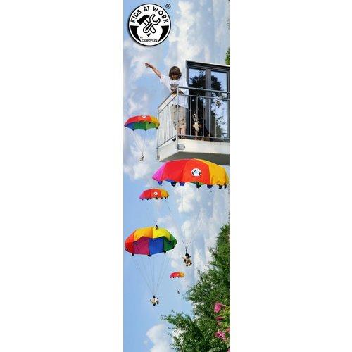 Kids at work kindergereedschap Zweefspeelgoed parachute van 85 centimeter
