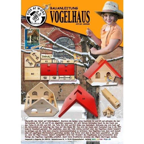 Kids at work kindergereedschap Vogelvoederhuisje bouwpakket