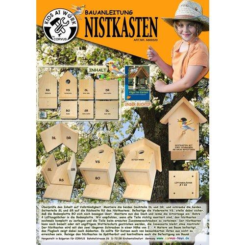 Kids at work kindergereedschap Nestkastje voor vogels DIY