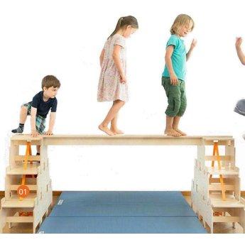 RobHoc flexibele schoolmeubels RobHoc beam set evenwichtsbalk