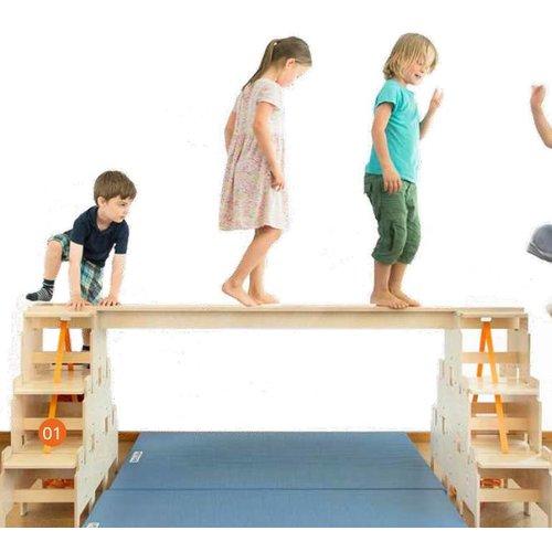 RobHoc flexibele schoolmeubels Beam set - evenwichtsbalk