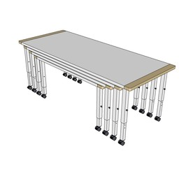 RobHoc flexibele schoolmeubels RobHoc vier tafels lengte 1 + 2 + 3 + 4
