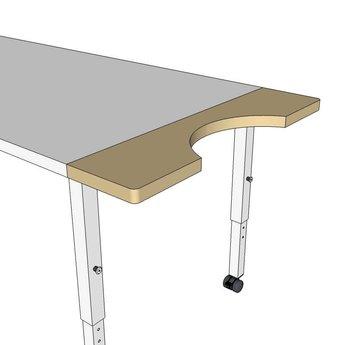 RobHoc flexibele schoolmeubels RobHoc tafelpasstuk voor rolstoel