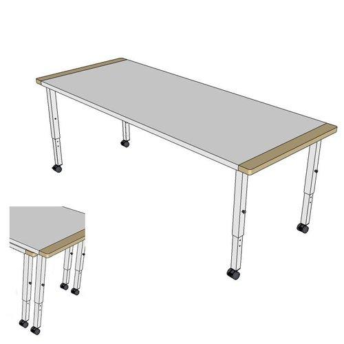 RobHoc flexibele schoolmeubels Tafelsetset lengte 1 en 2 - 160 en 140 cm