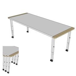 RobHoc flexibele schoolmeubels RobHoc drie tafels lengte 1 + 2 + 3