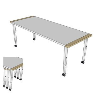 RobHoc flexibele schoolmeubels RobHoc tafels 1 + 2 + 3