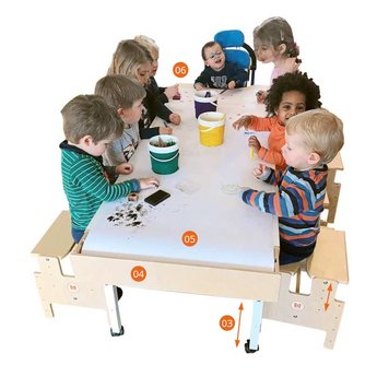 RobHoc flexibele schoolmeubels RobHoc tafel lengte 4 (100cm)