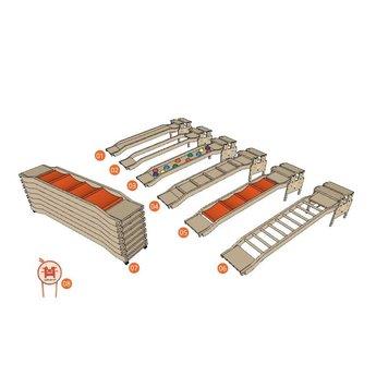 RobHoc flexibele schoolmeubels RobHoc gym element CHICKEN-RUN