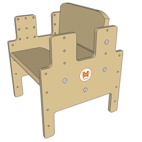 RobHoc flexibele schoolmeubels Rugsteun voor laagste stand kruk