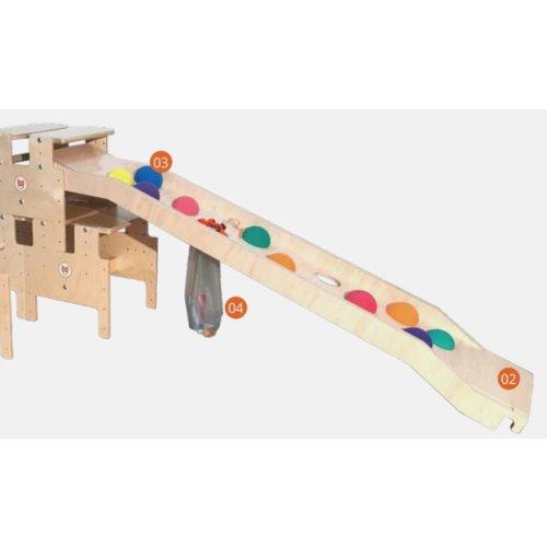 RobHoc flexibele schoolmeubels Voetensteun en koppelstuk gymelement