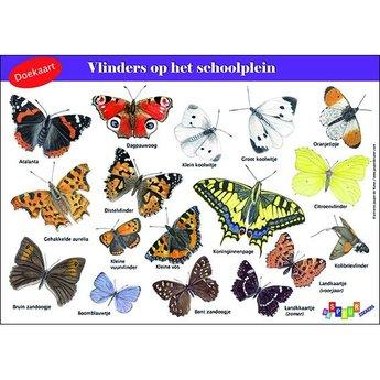 Tringa paintings natuurkaarten Doekaart- Vlinders op het schoolplein