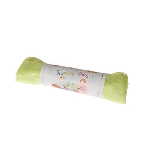 Sarah's Silk speelzijde Sarah's Silks zijden doek in lime groen