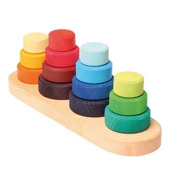 Grimms houten speelgoed Fabuto stapel- en sorteertoren