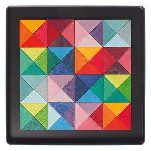 Grimms houten speelgoed Grimms Magneetpuzzel driehoek