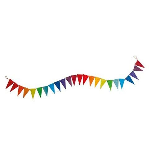 Grimms houten speelgoed Grimms Vlaggenlijn regenboog