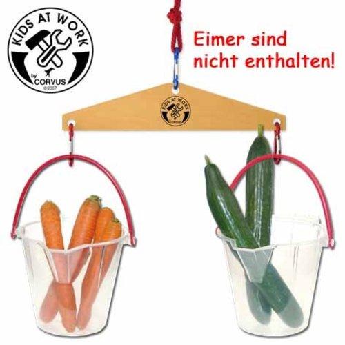 Kids at work kindergereedschap Eenvoudige houten weegschaal voor kinderen