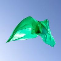 Sarah's silks speelzijde smaragd groen