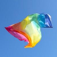 Sarah's Silks speelzijde regenboog