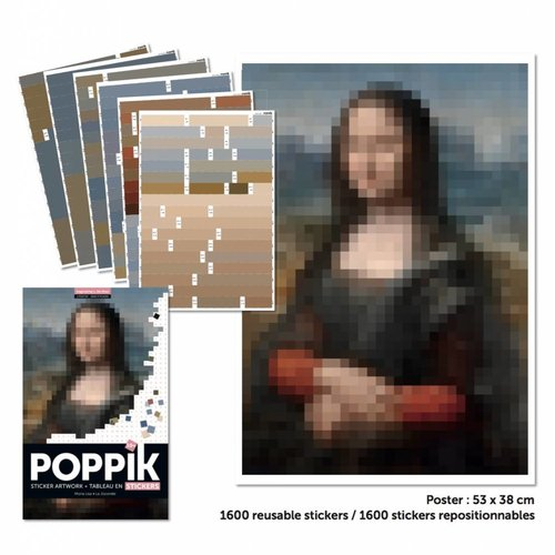 Poppik stickerkunst Sticker ARTWORK - DA VINCI (Mona Lisa)