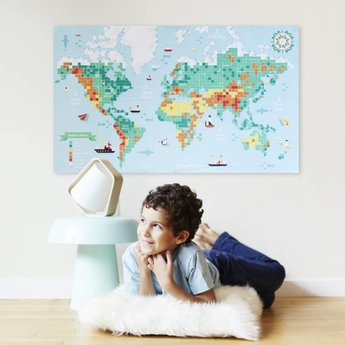 Poppik stickerkunst Make your own sticker poster - WORLD MAP