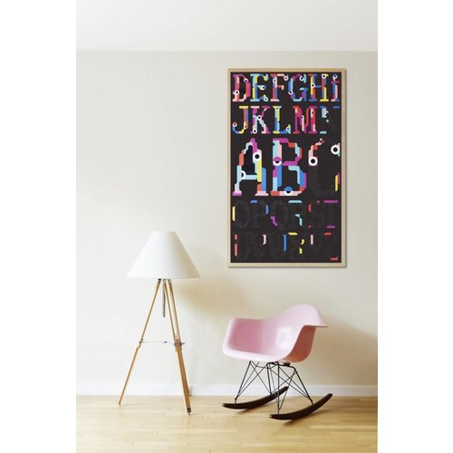 Poppik stickerkunst Maak je eigen sticker poster - ALFABET