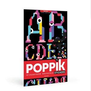 Poppik stickerkunst Poppik Maak je eigen sticker poster - Alfabet