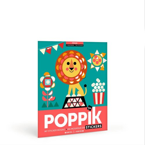 Poppik stickerkunst My sticker mosaic - CIRCUS