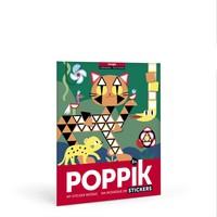 Poppik Maak je eigen sticker poster - Jungle
