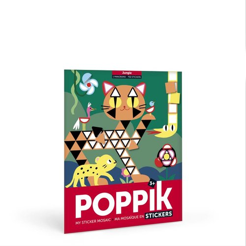 Poppik stickerkunst Poppik Maak je eigen sticker poster - Jungle