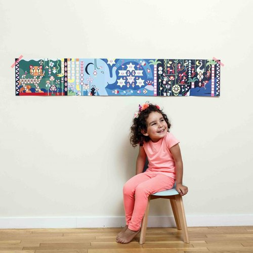 Poppik stickerkunst Make your own sticker poster - JUNGLE